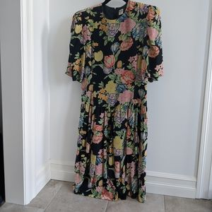 Vintage Albert Nipon silk dress 1980s